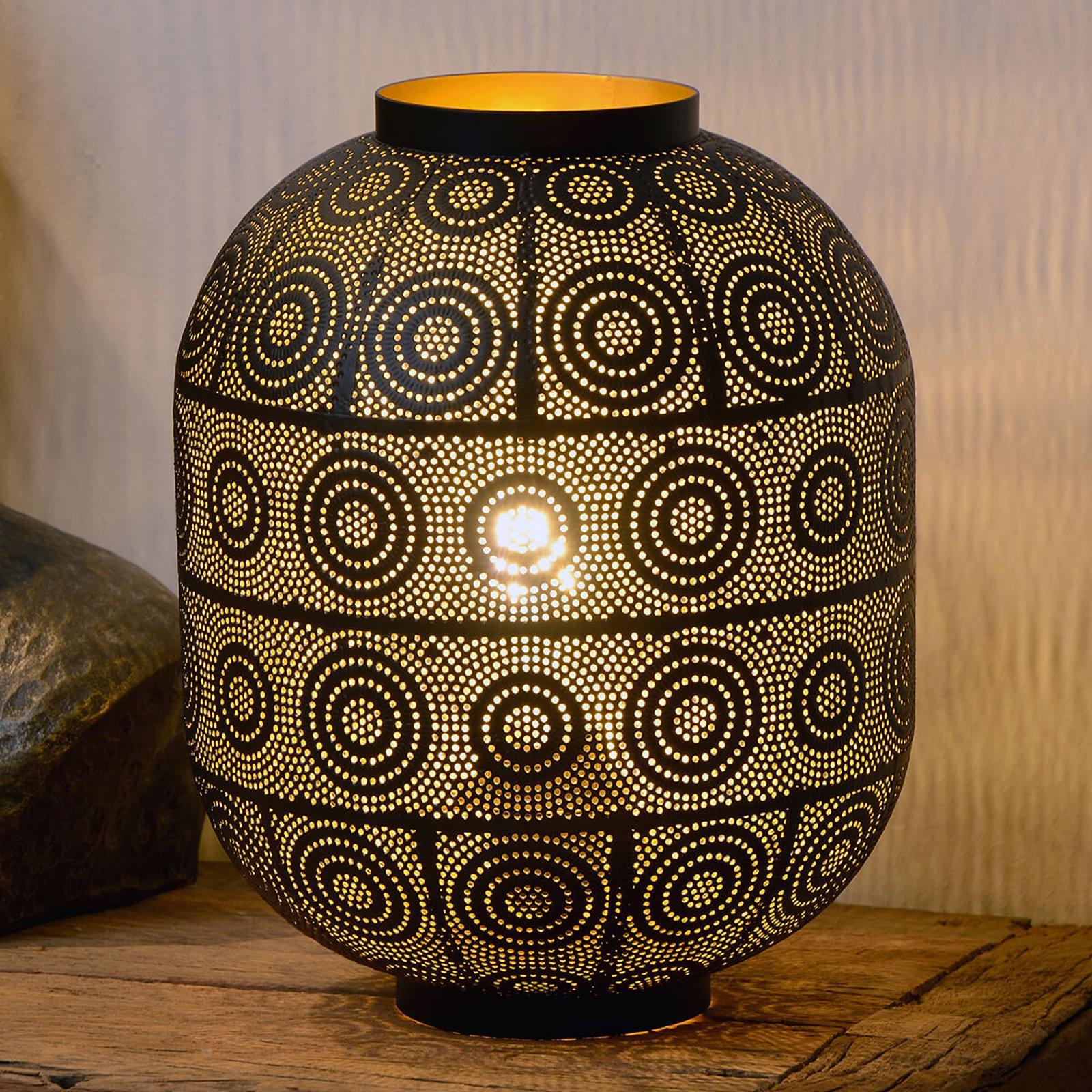Bordlampe Tahar i orientalsk utforming, 25 cm