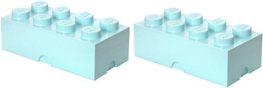 LEGO oppbevaring Pakke Stor 2p, Turkis