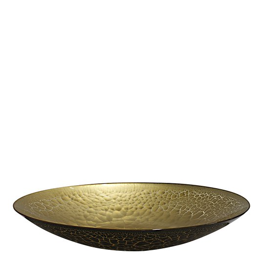 Nybro Crystal - Croco Fat 39 cm Svart/Guld