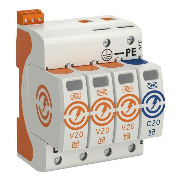 Obo Bettermann 5095333 Overspenningsvern type 2, 230 V, IP20 3+N/PE, 4 leder
