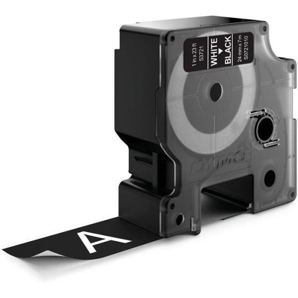 DYMO Standard D1 Teippi 24mm Valkoinen teksti, musta pohja