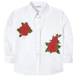 Dolce & Gabbana Rose Embroidery Skjorta Vit 4 år