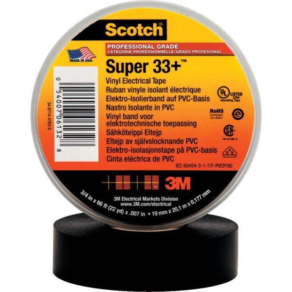 3M Scotch Super 33+ Elektrikerteip svart