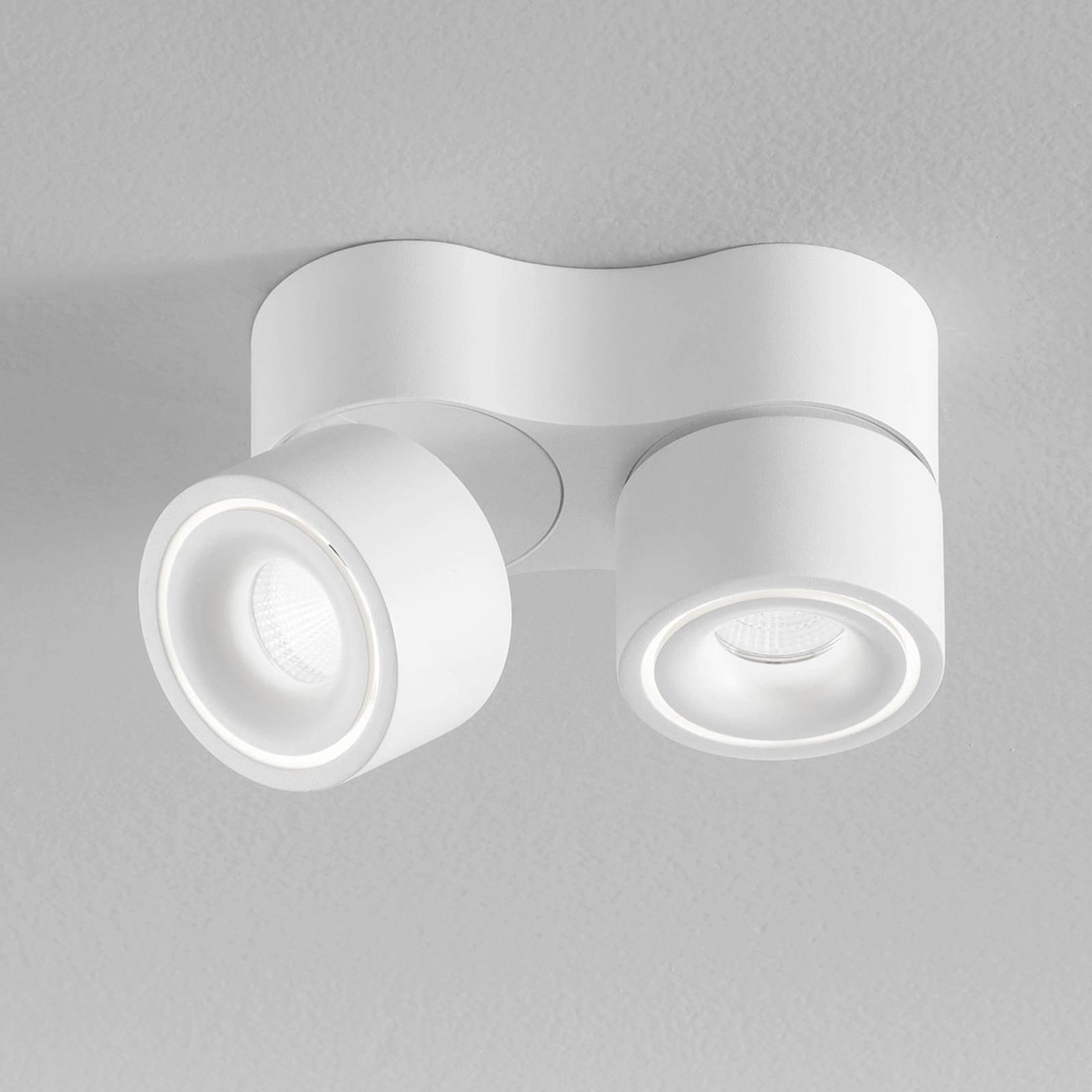 Egger Clippo S Duo LED-takspot, hvit, 3 000 K