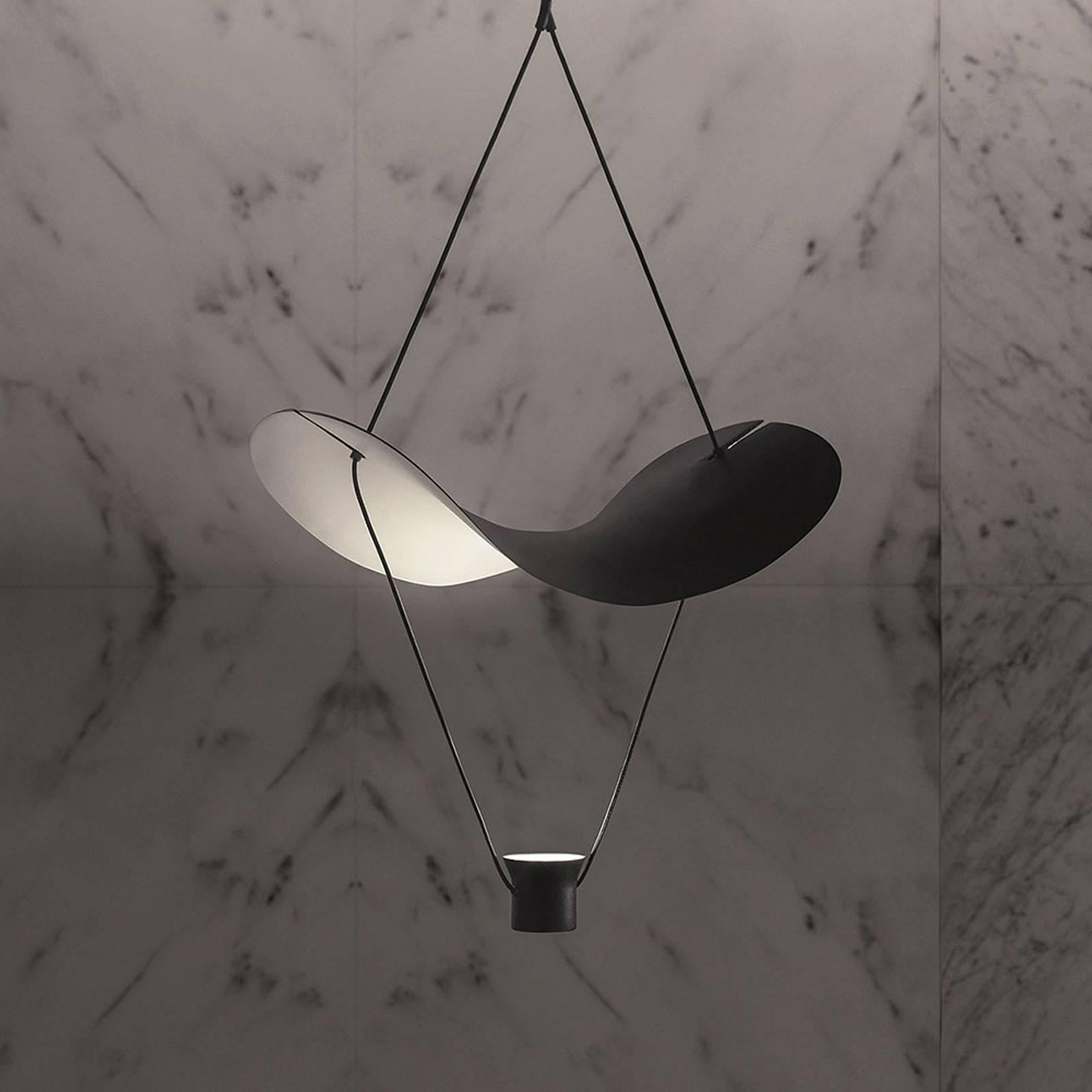 LED-riippuvalaisin Vollee S1 G, 88 cm, musta