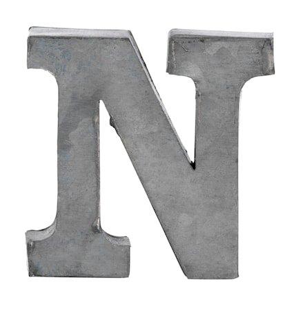 Bokstav N 5,5 cm - Zinc