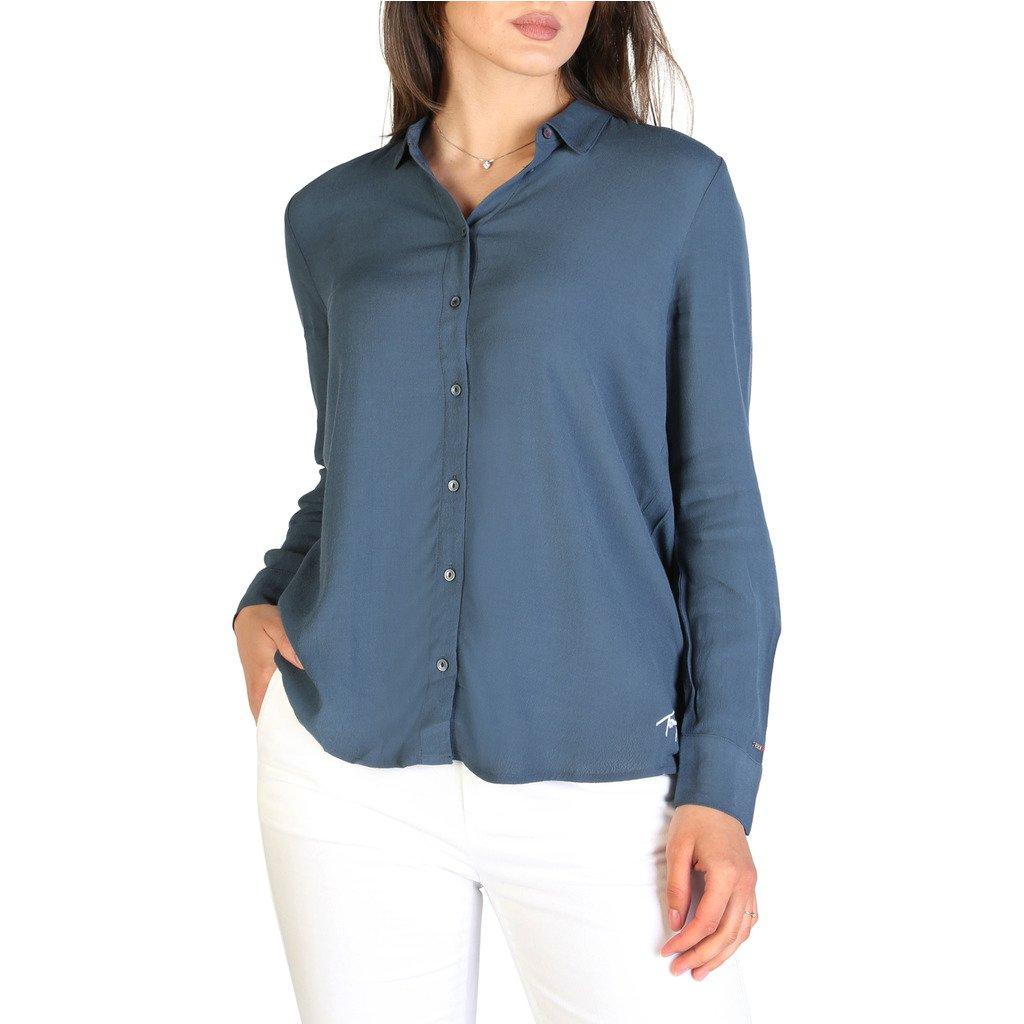 Tommy Hilfiger Women's Shirt White XF0XF00531 - blue M