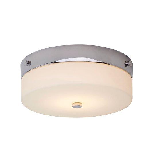 Pyöreä Tamar-LED-kattovalaisin, kromi