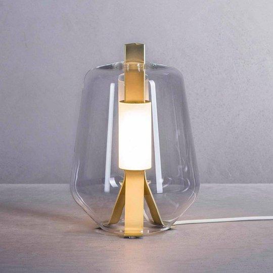Prandina Luisa T1 bordlampe 2 700 K messing/klar