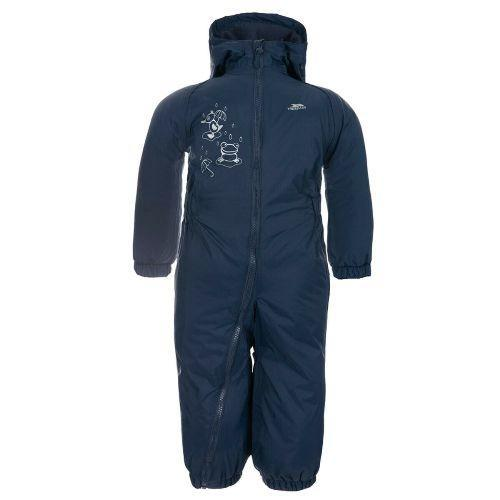 Trespass Kid's Padded Waterproof All-In-One Suit Various Colours Dripdrop - Navy 6 to 12 Months