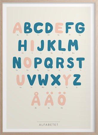 Alfabetet Poster 30x40 cm