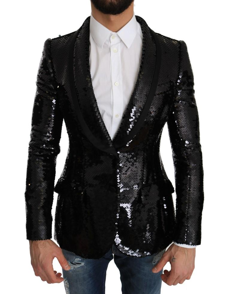 Dolce & Gabbana Men's Silk Slim Fit Blazer Black JKT1288 - IT44 | XS