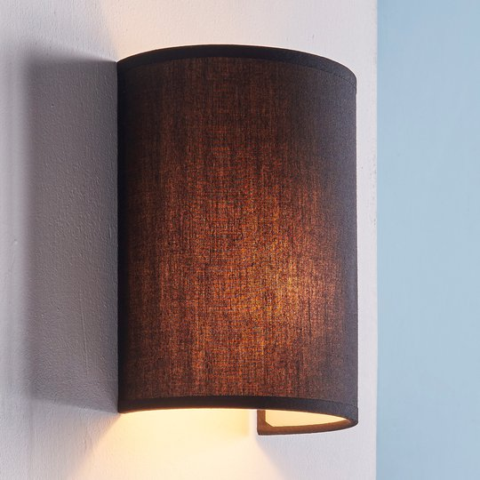 Annalisa - puolipyöreä tekstiiliseinävalaisin, mus