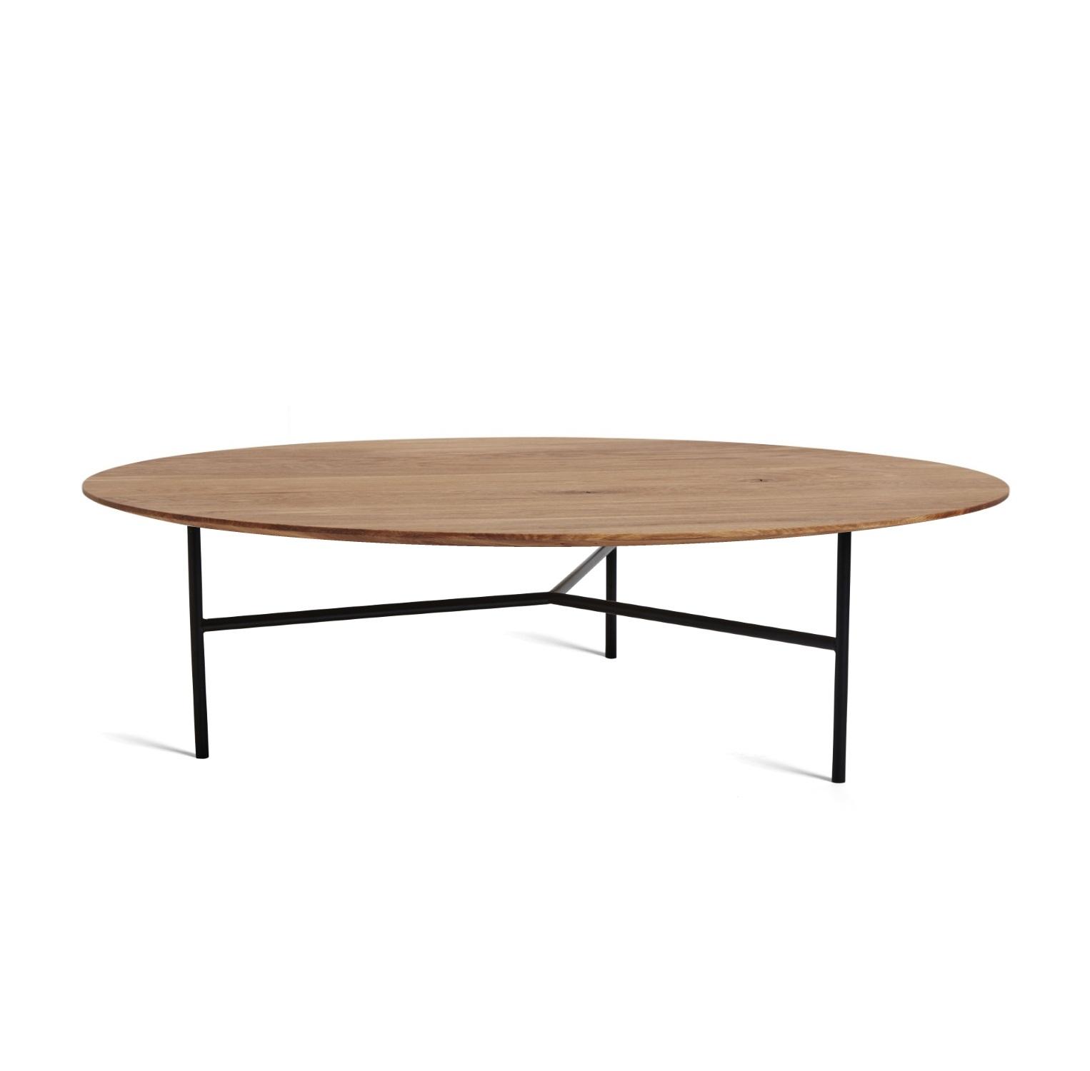 TRIBECA soffbord 110 cm oljad ek / svart, Mavis
