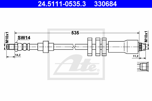 Jarruletku ATE 24.5111-0535.3