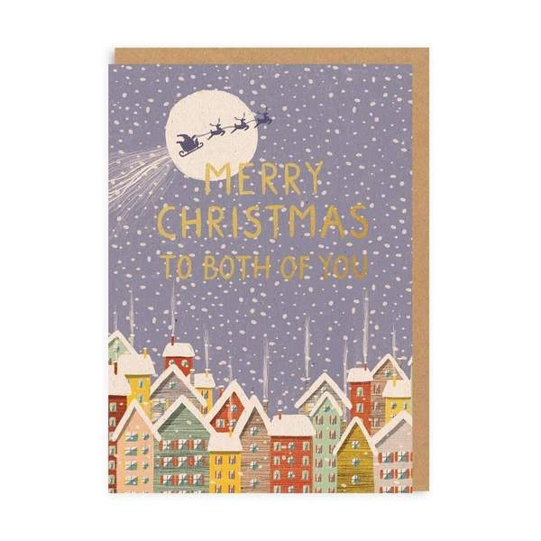 To Both Of You Town Christmas Card