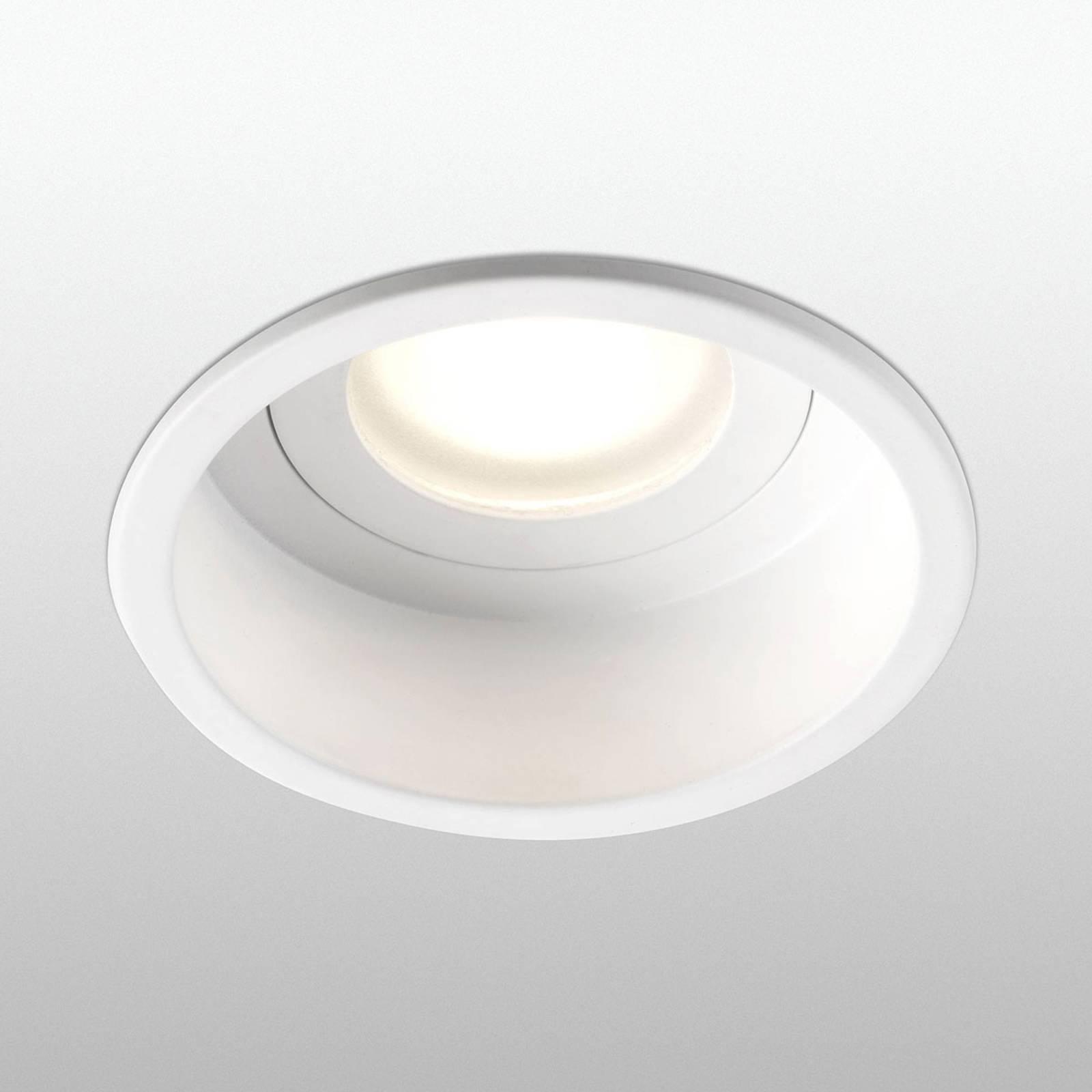Uppokohdevalo Hyde 1-lamp. pyöreä IP44 valkoinen