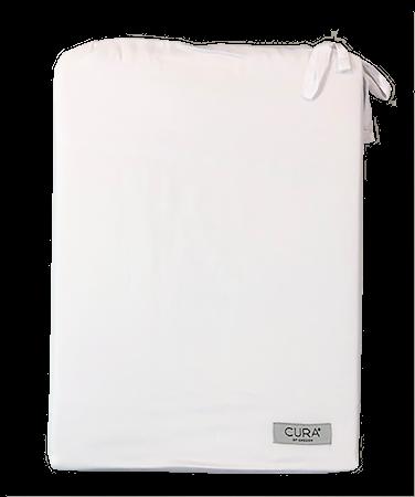 CURA Tencel Dynetrekk Dobbelsett Hvit 200 x 220 cm