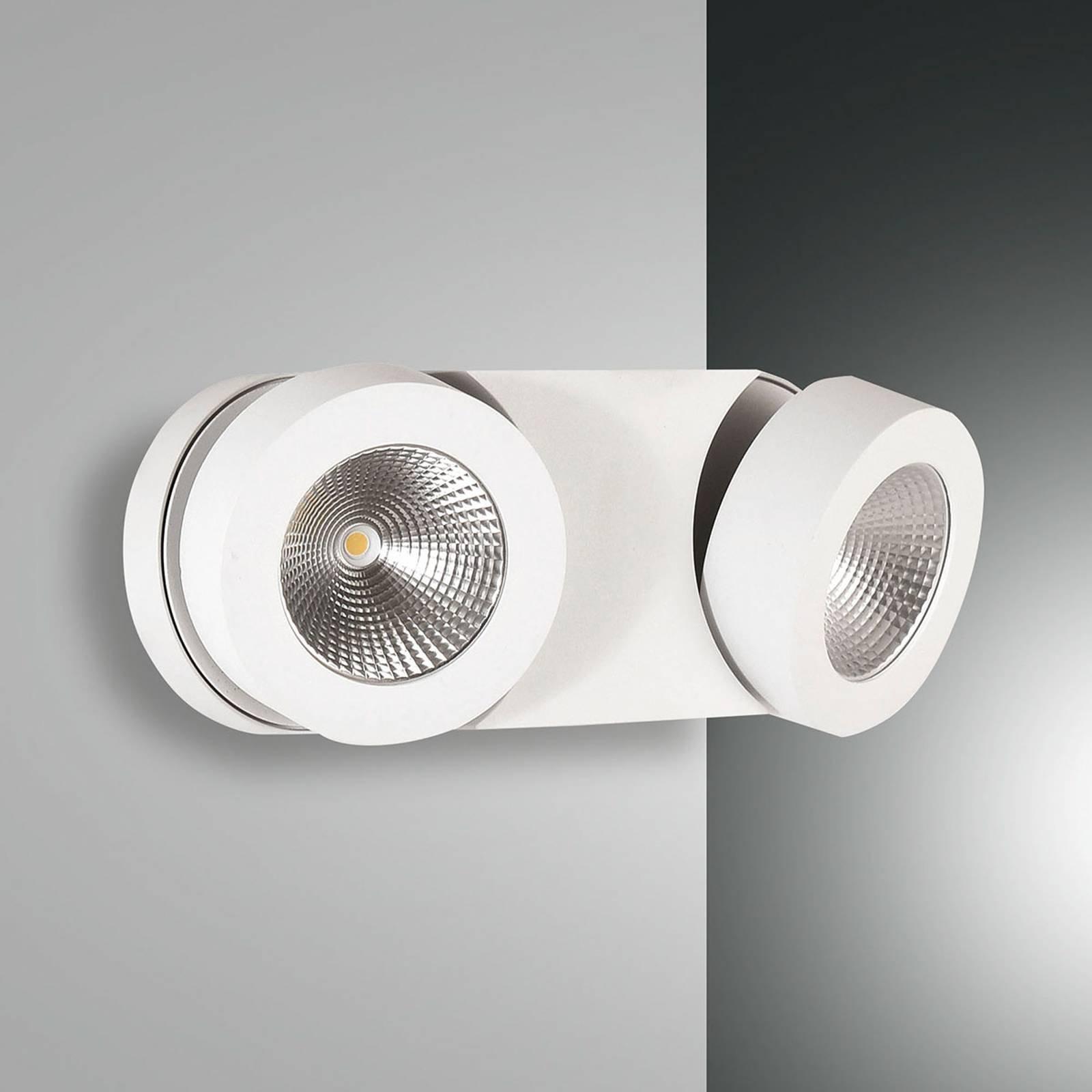 Dimbar LED-vegglampe Hella med 2 spoter