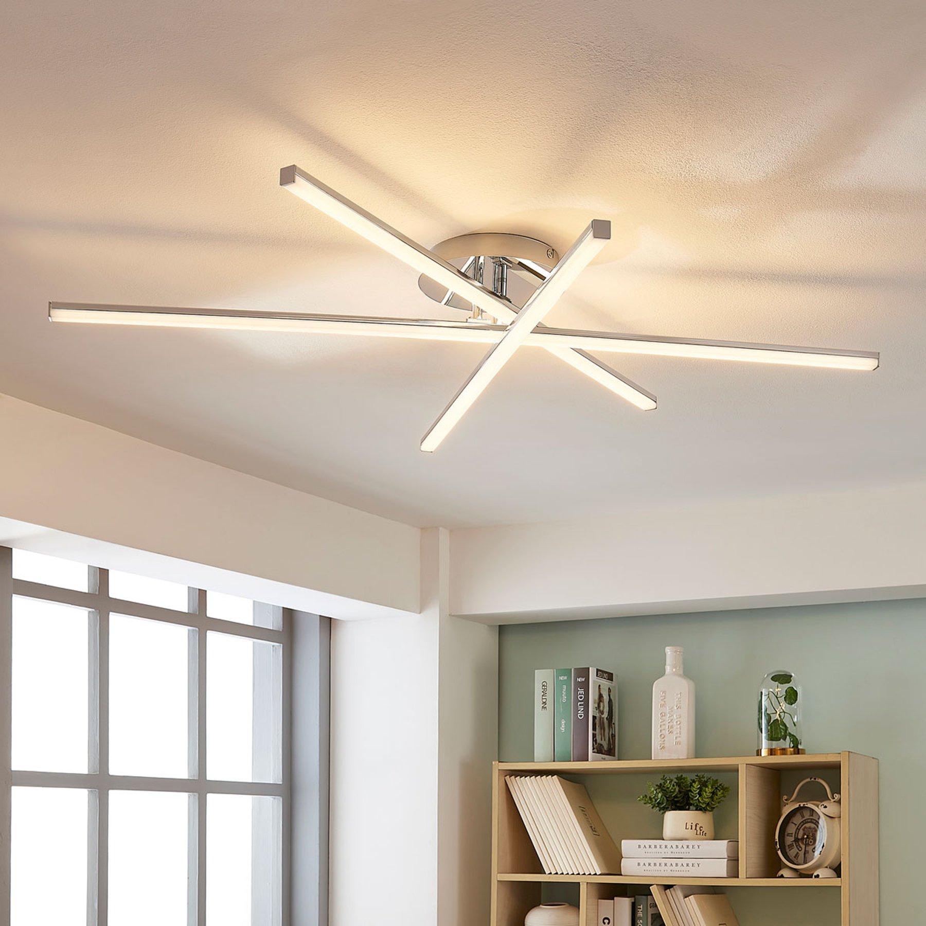 LED-taklampe Korona med 3 lys, dimbar