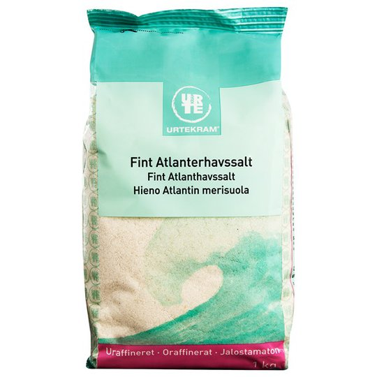 Urtekram Food Fint Atlanthavssalt Oraffinerat, 1 kg