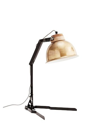 Bordlampe 35x58 cm - Messing/svart