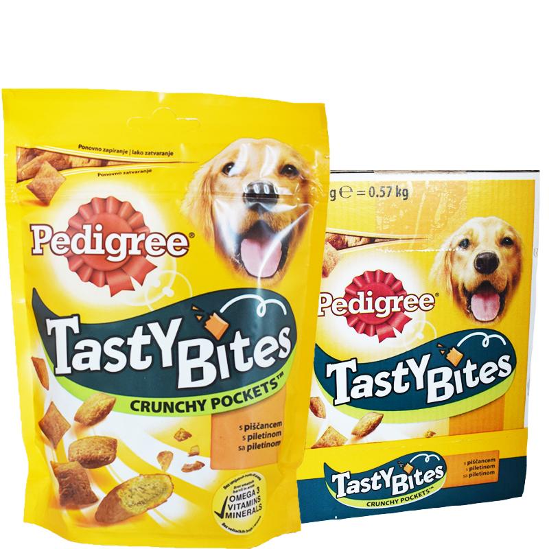 """Hel Låda Hundgodis """"Tasty Bites"""" 6 x 95g - 40% rabatt"""