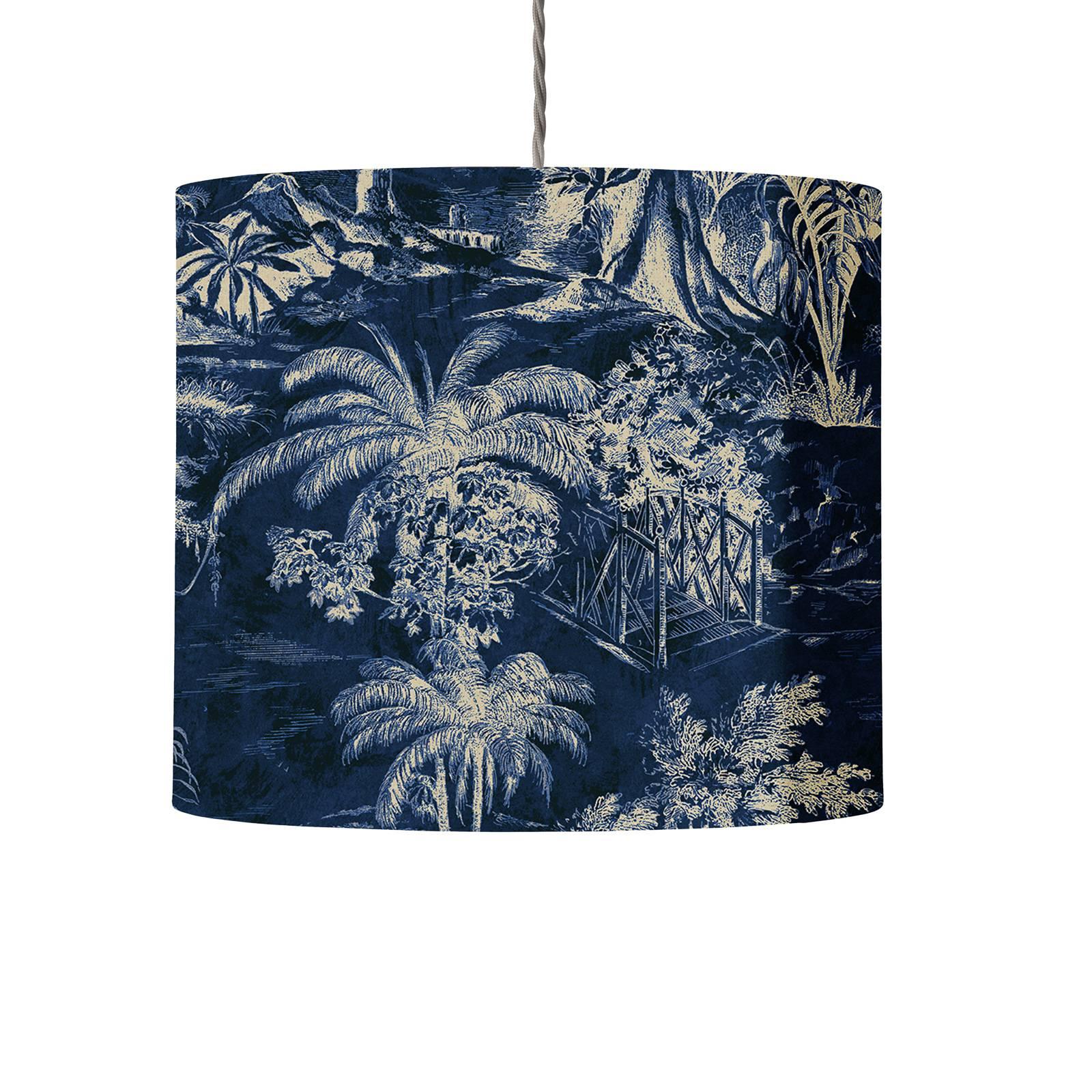 EBB & FLOW Palms indigo 30 cm, kierrejohto/hopea
