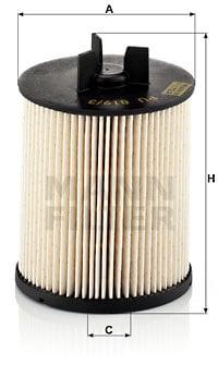 Polttoainesuodatin MANN-FILTER PU 819/3 x