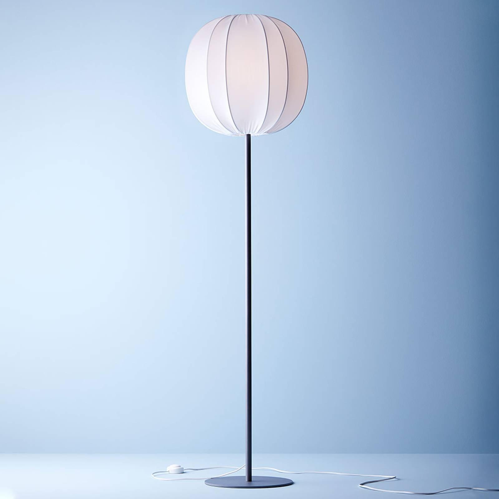 Gulvlampe Neo med tekstilskjerm, grafitt/hvit