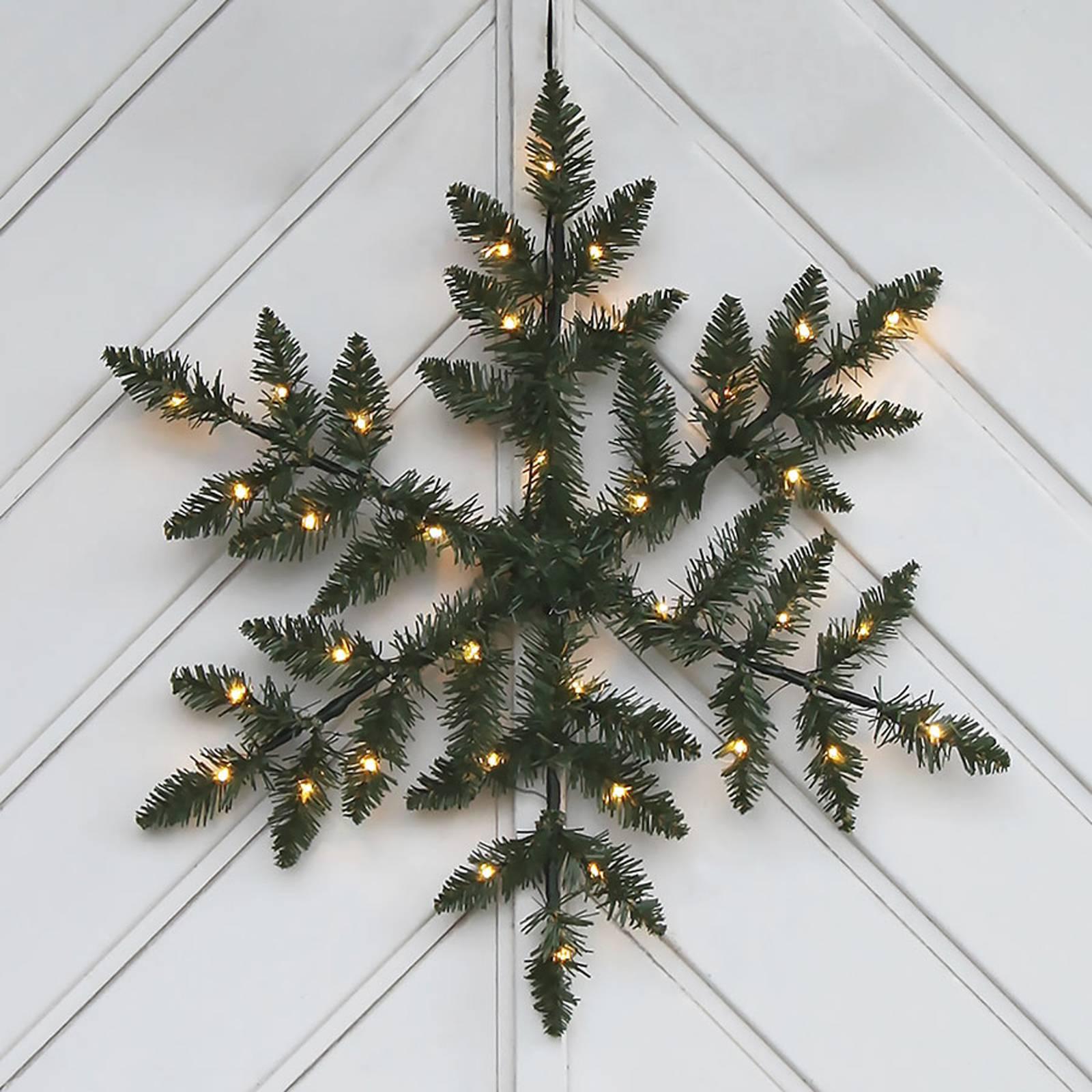 Paristokäyttöinen LED-ulkokoriste Snowflake
