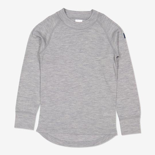 Merinoull trøye gråmelange