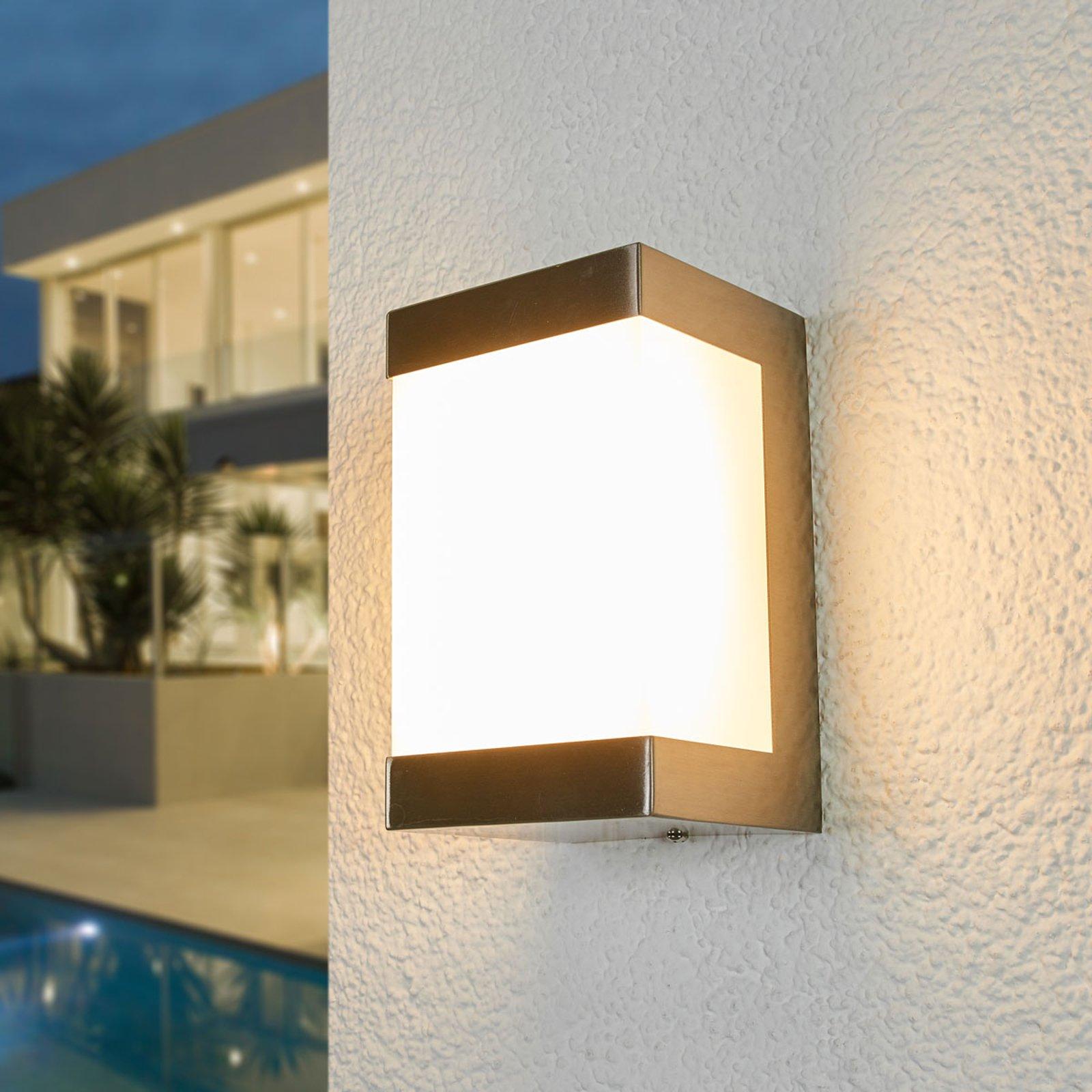 LED-utevegglampe Severina i rustfritt stål
