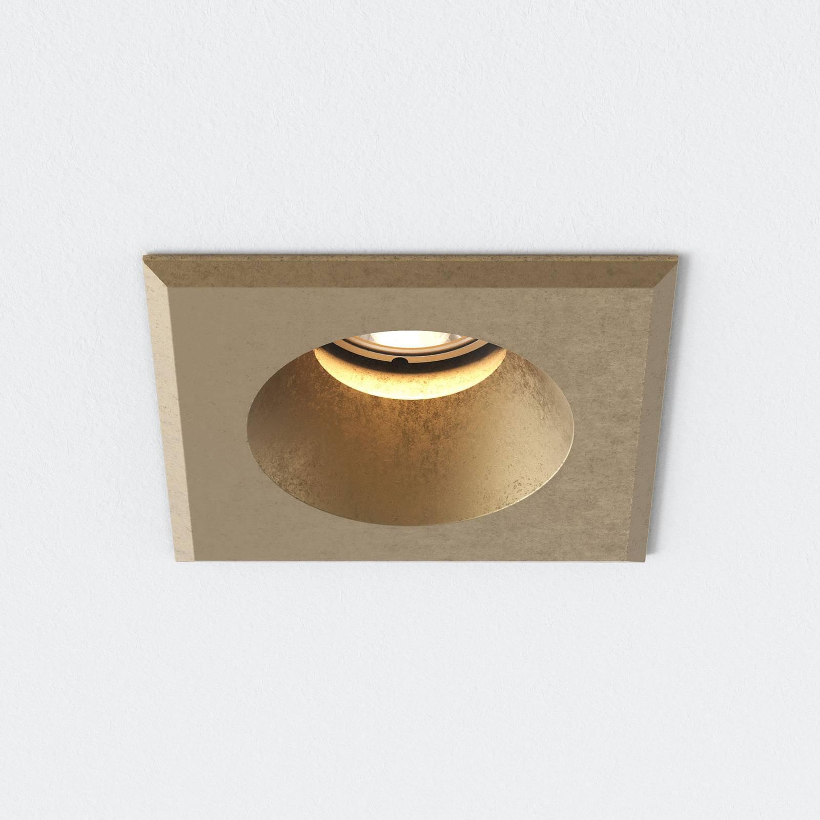 Astro Solway kantet innfellingslampe messing