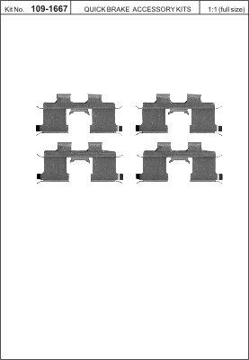 Tarvikesarja, jarrupala KAWE 109-1667