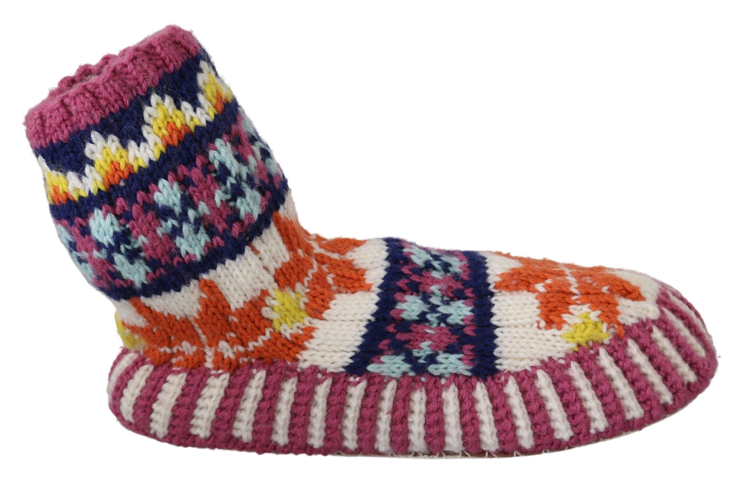 Dolce & Gabbana Women's Knitted Boots Multicolor LA6892 - EU39/US8.5
