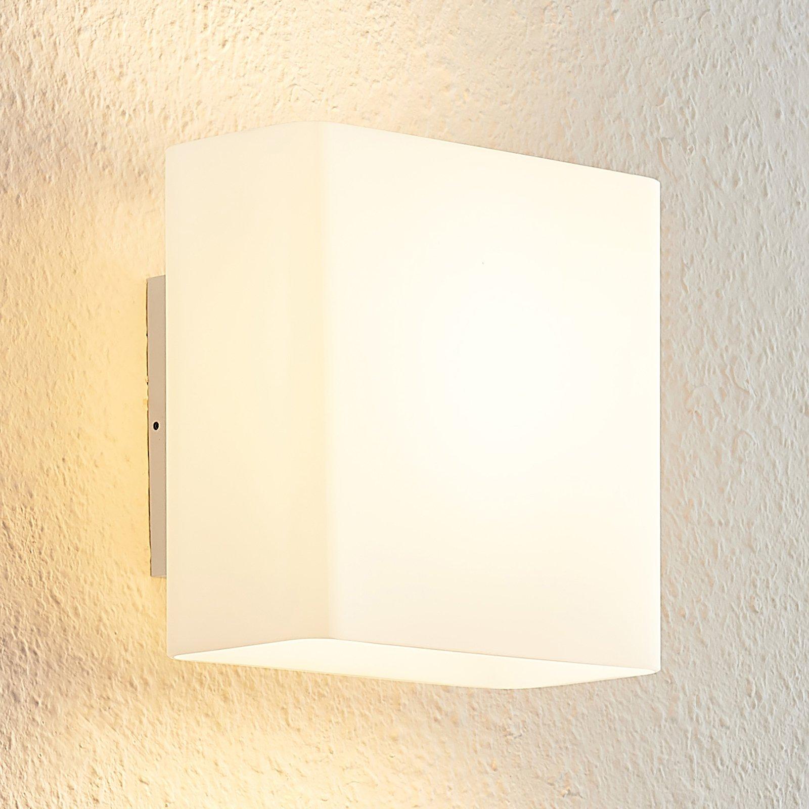 Arcchio Daya LED-glassvegglampe, kantet, opalhvit