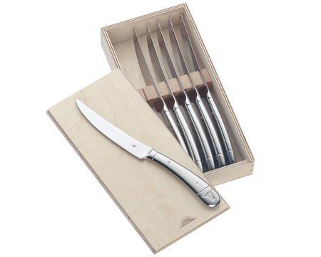 Biffkniv stor 6 st. blank stål 23 cm