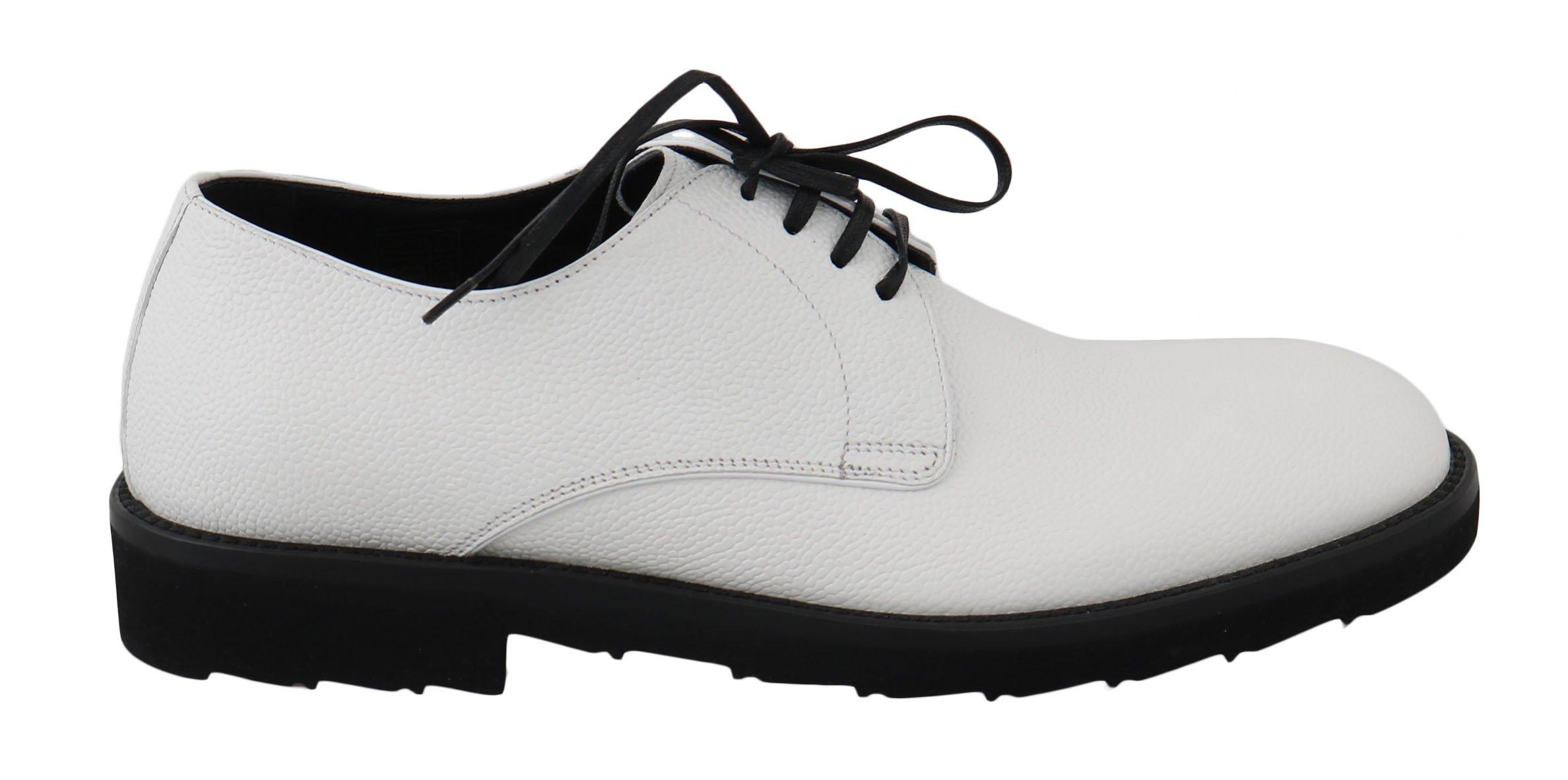 Dolce & Gabbana Men's Leather Dress Derby Shoes White MV2313 - EU39/US6