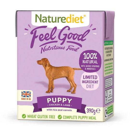 Naturediet Feel Good Puppy Kyckling & Lamm (390 g)