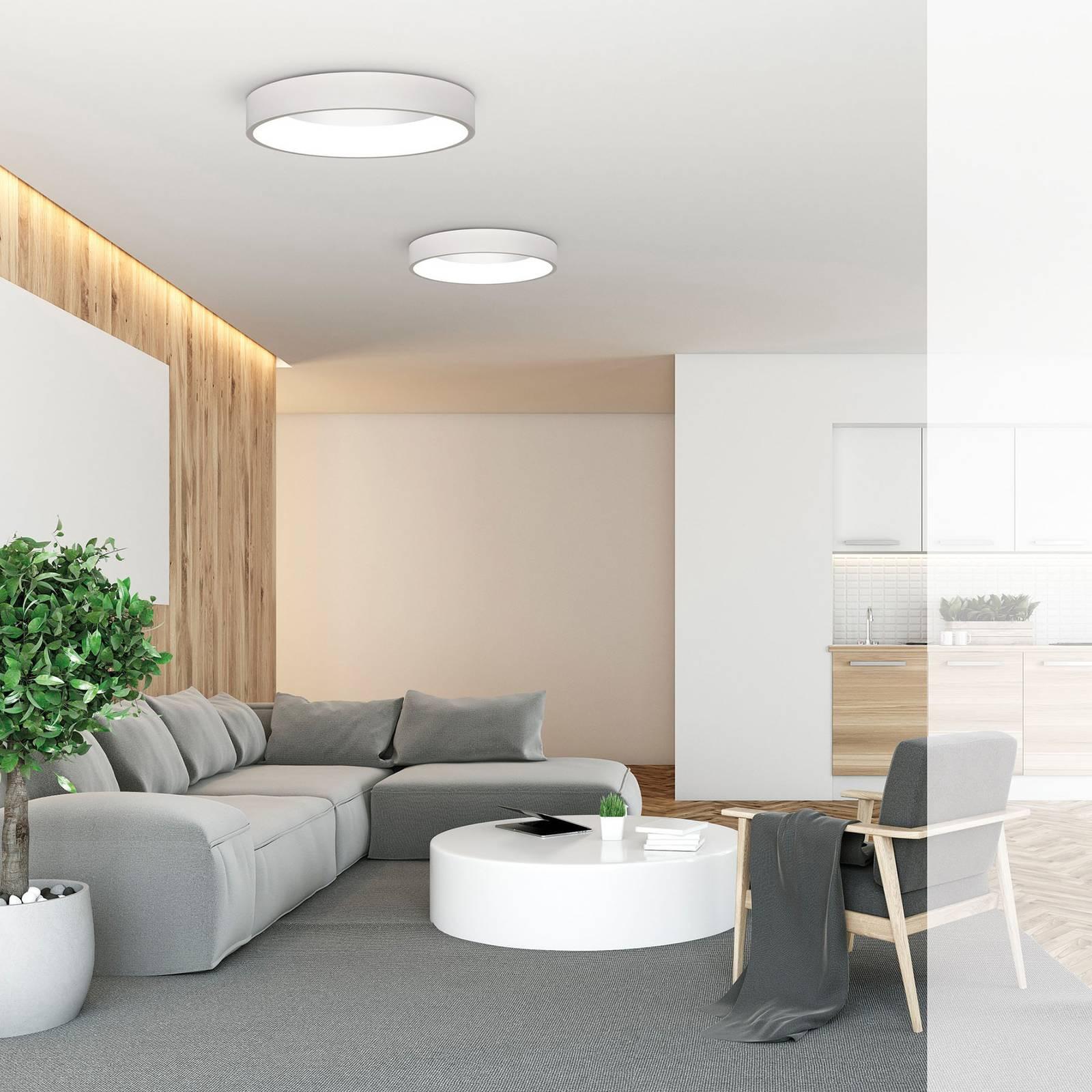 LED-kattovalaisin Dilga Ø 60 cm Casambi valkoinen