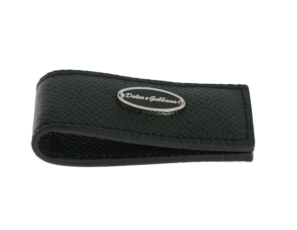 Dolce & Gabbana Men's Leather Magnet Money Clip Green SIG31662