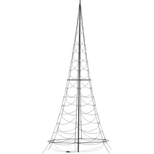 Julbelysning Fairybell Flaggstångsbelysning 6 meter, 900 LED