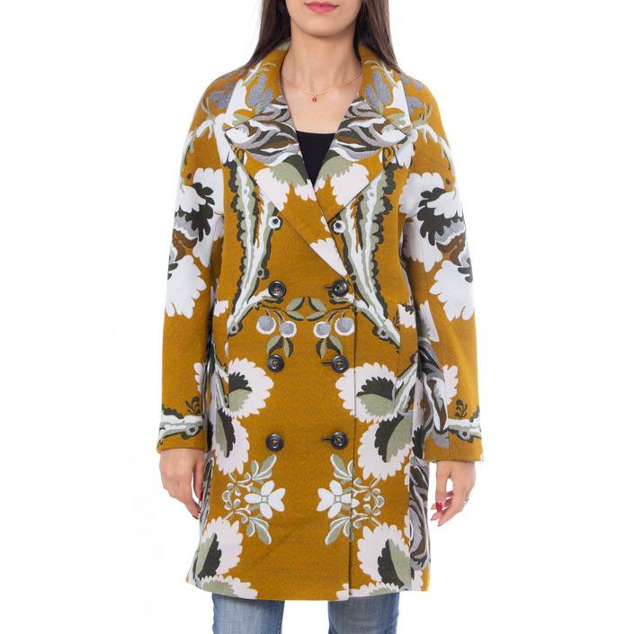 Desigual Women's Coat Mustard 167635 - mustard 38