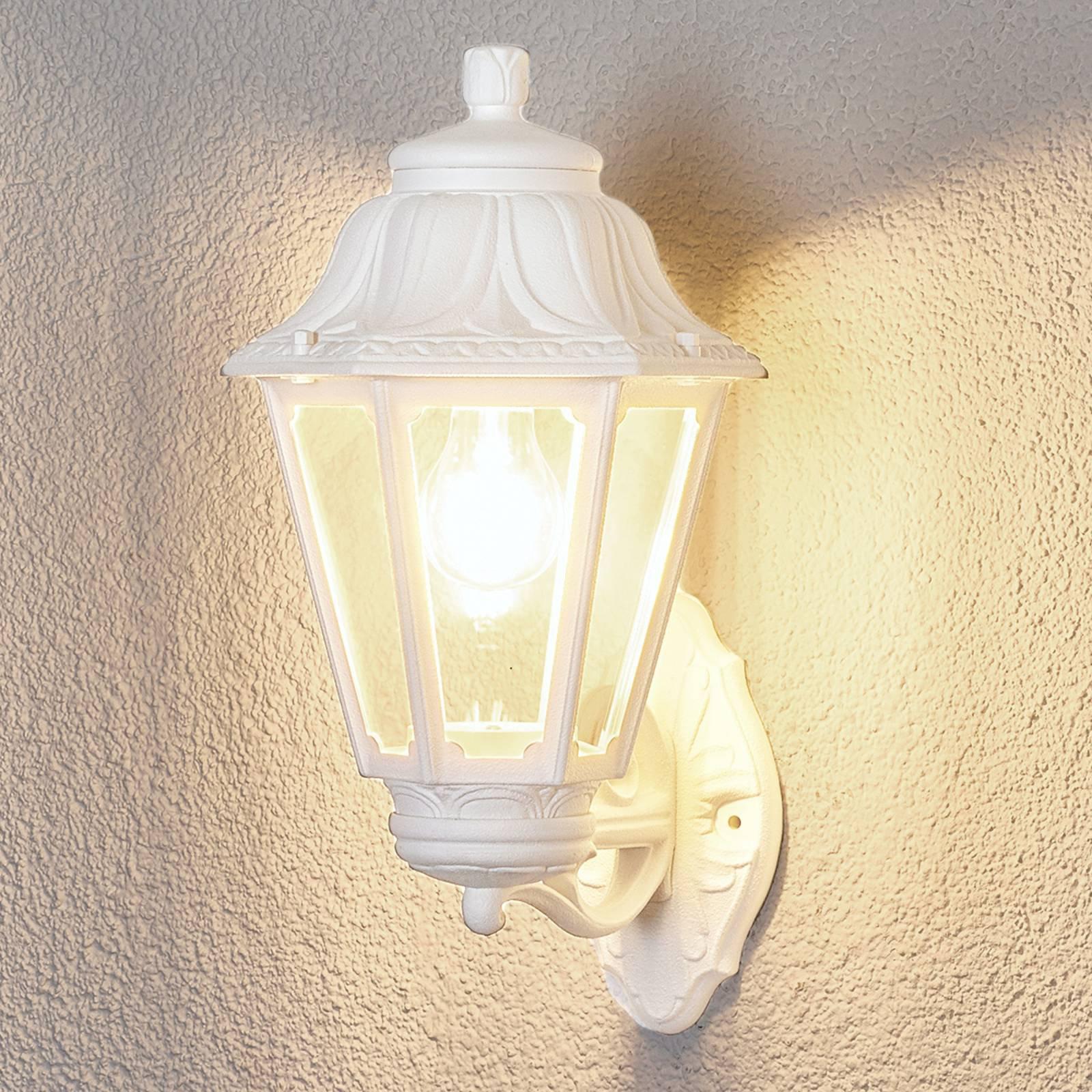LED-vegglampe Bisso Anna E27 hvit oppover