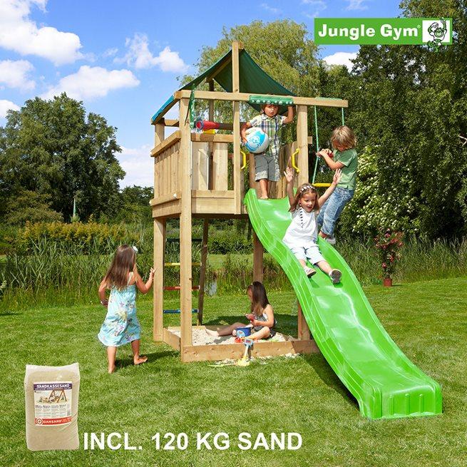 Jungle Gym Lodge lektorn komplett inkl. 120 kg, Klätterställning