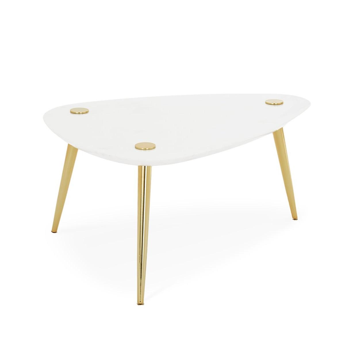 Jonathan Adler I Large Marble Triangle Table