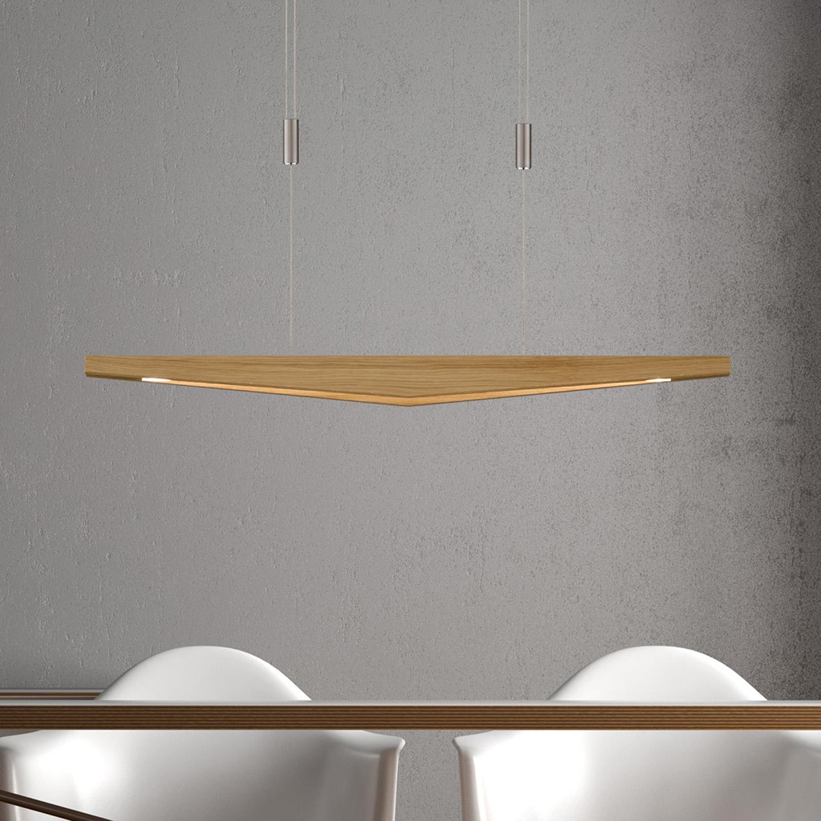 Lucande Dila -LED-riippuvalo luonnontammi, 88 cm