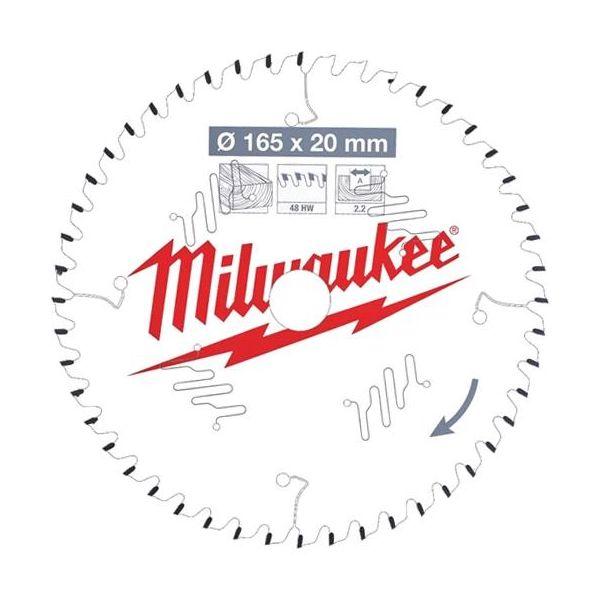Milwaukee CSB P W Sahanterä 165x2,2x20 mm, 48T