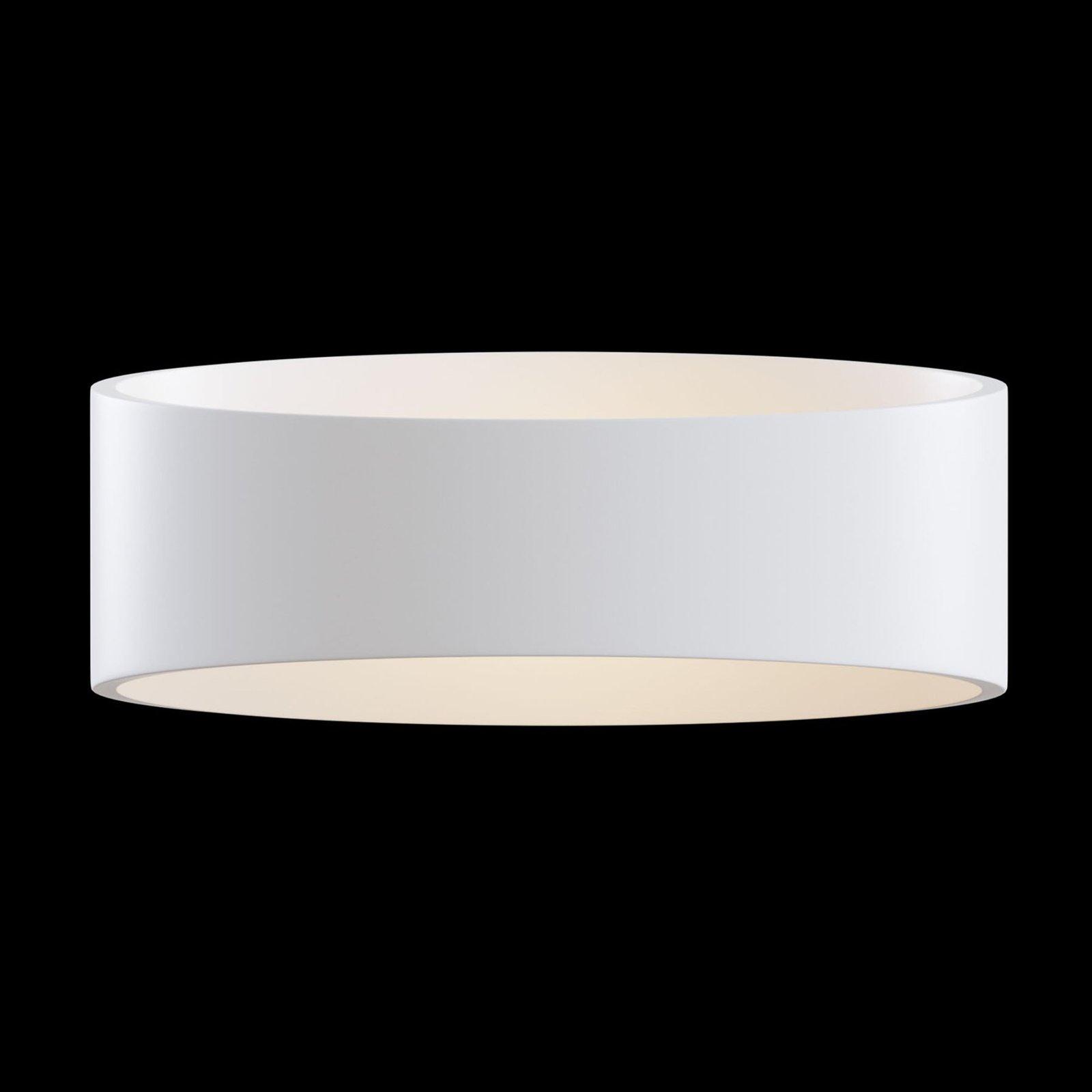 Trame LED-vegglampe, oval form i hvit